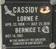 Lorne F Cassidy