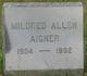 Profile photo:  Mildred <I>Allen</I> Aigner