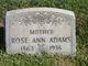 Profile photo:  Rose Ann Adams