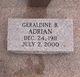 Profile photo:  Geraldine B. Adrian