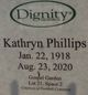 Profile photo:  Kathryn <I>Plant</I> Phillips