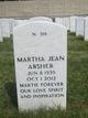 "Martha Jean ""Martie"" <I>Lowmiller</I> Absher"