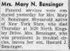Mary N. Bensinger