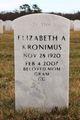 Elizabeth Anna <I>Becker</I> Kronimus