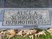 Alice A <I>Behm</I> Schroeder
