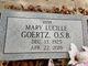"""Sr Mary Lucille """"Hettie"""" Goertz"""