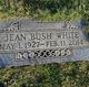 Jean <I>Bush</I> White