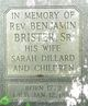 Rev Benjamin Arnold Brister Sr.