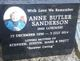Anne Butler <I>Lorimer</I> Sanderson