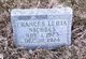 Profile photo:  Frances Leota Nichols