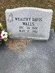 Profile photo:  Wealty Adeline <I>Davis</I> Walls