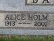 Alice <I>Holm</I> Baughman