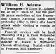 Profile photo:  William H. Adams