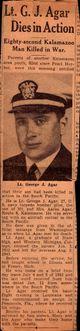 Profile photo: LTJG George John Agar