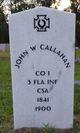 John W Callahan
