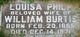 "Annie ""Louisa"" <I>Philp</I> Burtis"