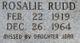 Rosalie <I>Ramsey</I> Rudd
