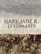 Mary Jane <I>Blizzard</I> Ketterman