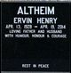 Profile photo:  Ervin Henry Altheim
