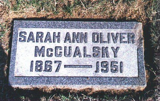 Sarah Ann Sade <i>Oliver</i> McCualsky