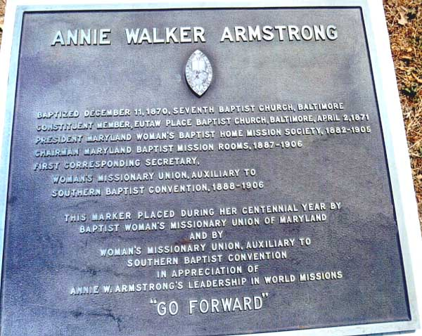 Annie Walker Armstrong 1850 1938 Find A Grave Memorial