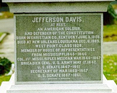 Image result for jefferson davis died in 1889