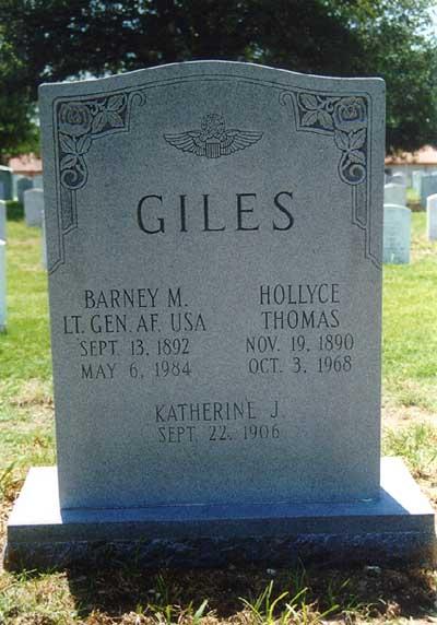LTG Barney McKinney Giles