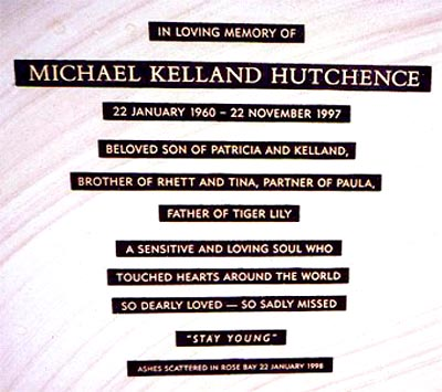 Michael Kelland Hutchence