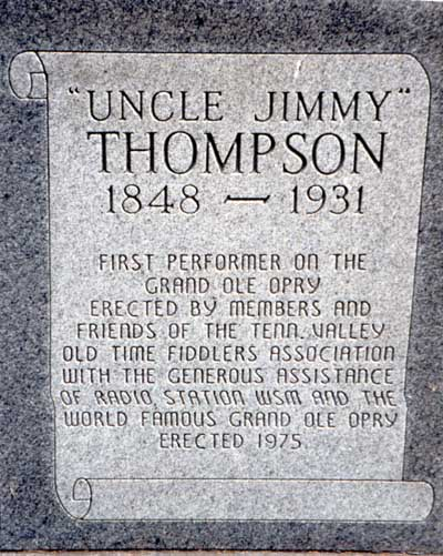 James Alexander Uncle Jimmie Thompson