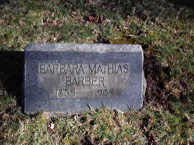 Barbara <i>Mathias</i> Barber