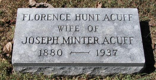 Florence <i>Hunt</i> Acuff