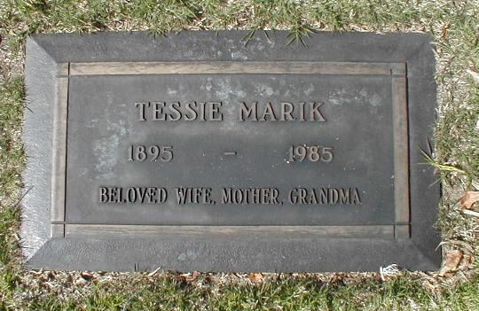 Tessie Vera <i>Hlavsa</i> Marik