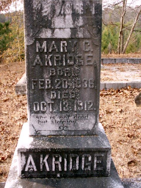 Mary Catherine <i>Baker</i> Akridge