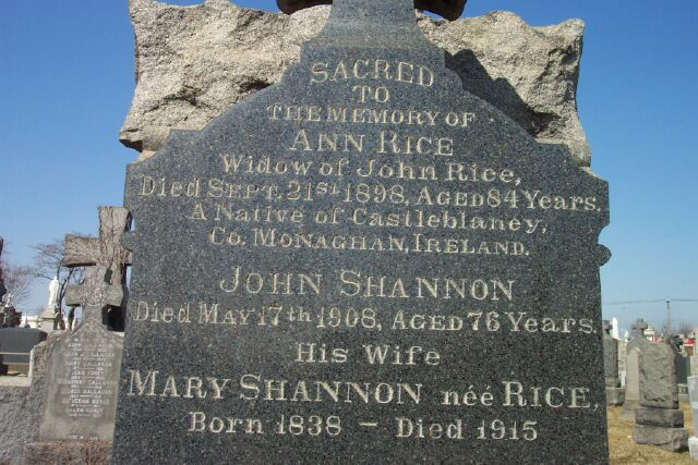 Mary <i>Rice</i> Shannon