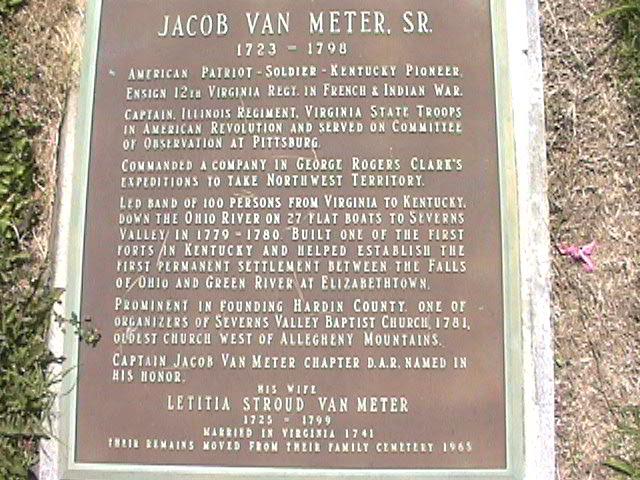 Capt Jacob Jake Van Meter, Sr