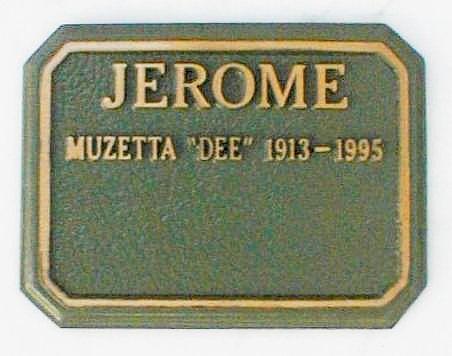 Muzetta Renee Dee <i>Shortridge</i> Jerome