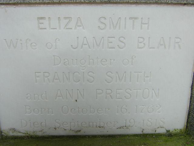 Eliza <i>Smith</i> Blair