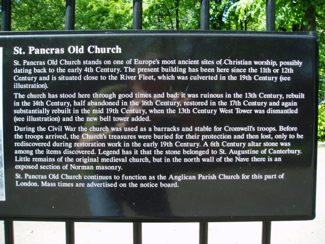 St Pancras Old Church Churchyard