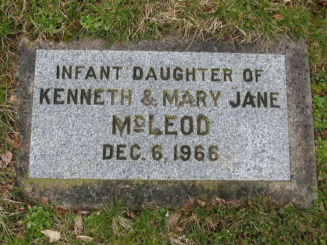 Infant Daughter McLeod