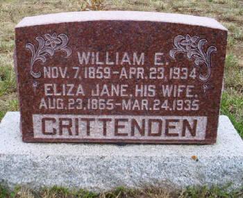 Eliza Jane <i>Mills</i> Crittenden