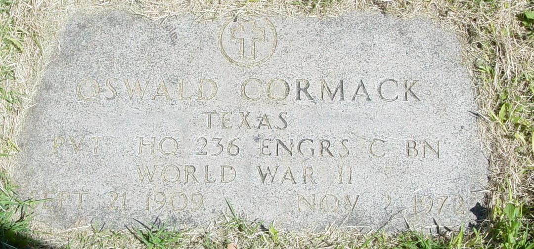 William Oswald Bud Cormack