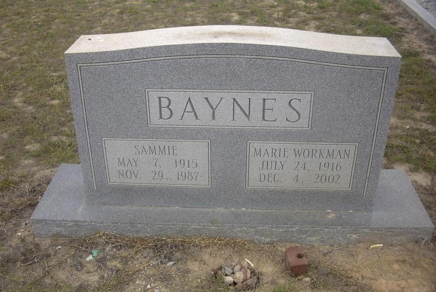 Mary Marie <i>Workman</i> Baynes