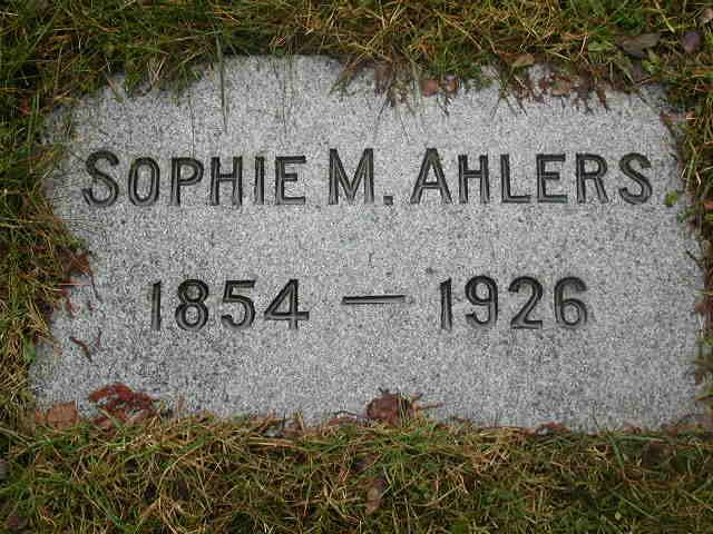 Sophie M Ahlers