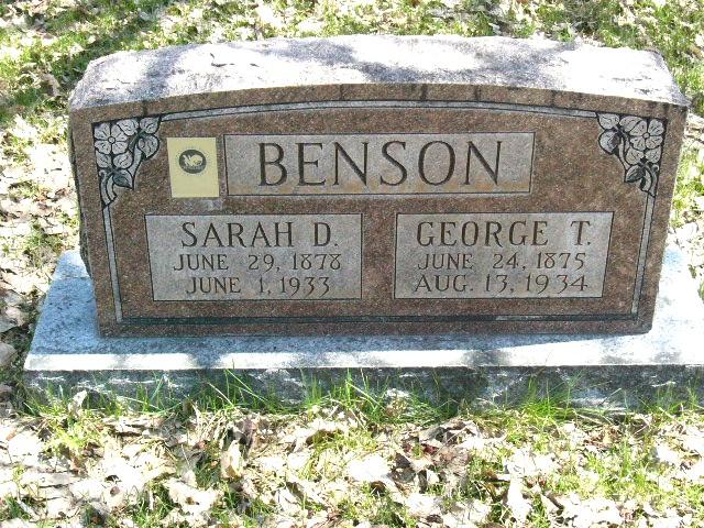 Sarah Sophia <i>Dunkley</i> Benson