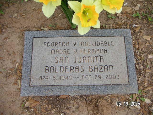 San Juanita Jo Ann <i>Balderas</i> Bazan