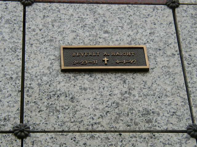 Beverly A. Haight