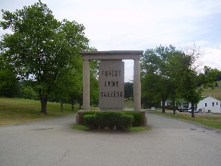 This Is The Entrance Of Forest Lawn Gardens In McMurray, Pa. (Washington  County) It Is On The Northbound Side Of U.S. Route 19.