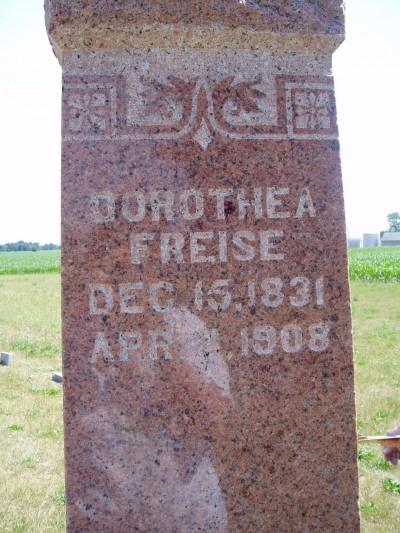 Dorothea Catharina Marie Dorothea <i>Grages</i> Freise