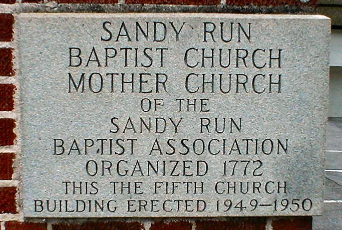 Sandy Run Baptist Church Cemetery