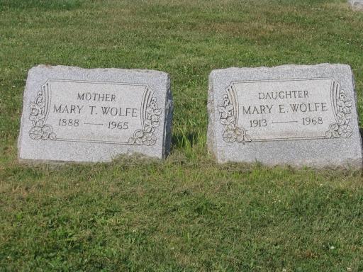 Mary E. <i>Thompson</i> Wolfe
